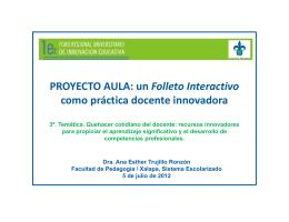 un Folleto Interactivo como práctica docente innovadora