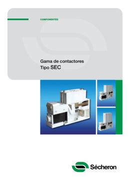 Gama de contactores Tipo SEC