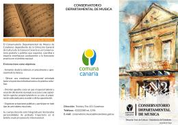 folleto conservatorio