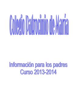 FOLLETO PADRES 2013-2014 - Colegio Patrocinio de María