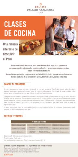 Clases de cocina Español