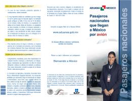 Pasajjeros nacionales que llegan a México por