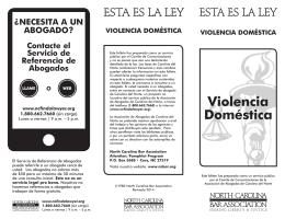 Violencia Doméstica - North Carolina Bar Association
