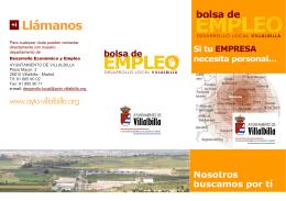 folleto para empresarios - Ayuntamiento Villalbilla