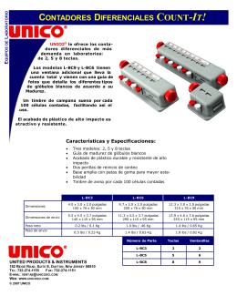 Contadores Diferenciales L-BC6 & L-BC9