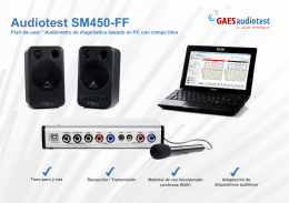 Folleto Audiotest SM450