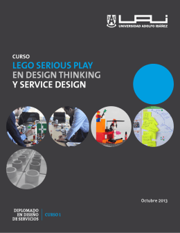lego serious play en design thinking y service design