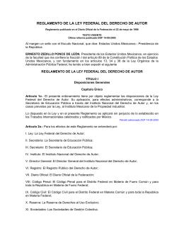Capítulo Único - Instituto Nacional del Derecho de Autor