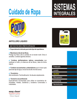 FOLLETO POMP ANTICLORO - Easy Clean Internacional