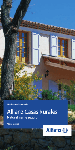 Folleto Casas Rurales