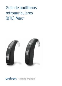 Guía de audífonos retroauriculares (BTE) Max™
