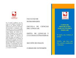 CURSO DE PREPARACIÓN PARA EL EXAMEN TOEFL iBT