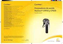 Procesadores de sonido Nucleus® CP910 y CP920