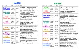 folleto TALLERES DE FORMACIÓN FAMILIAS 2011