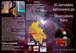Folleto III Jornadas Astronómicas Montaltbán