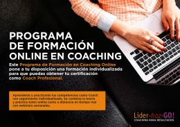 folleto informativo programa online de coaching