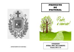folleto proyecto pastoral 2011-12 - Colegio Nuestra Señora de Loreto