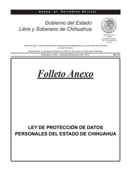 Ley de Protección de Datos Personales del Estado de Chihuahua