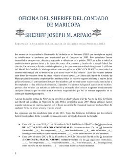 oficina del sheriff del condado de maricopa sheriff joseph m. arpaio