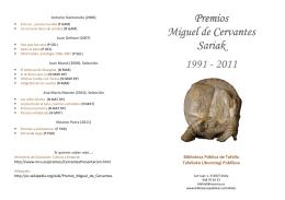 Premios Cervantes folleto
