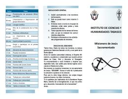folleto misiones 2015