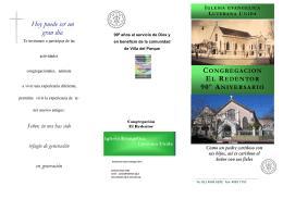 Folleto Congregación Actividades 2010