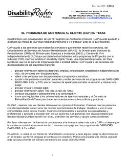 El Programa de Asistencia al Cliente (CAP) en Texas