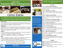 Folleto-Expositor Diplomado 2015