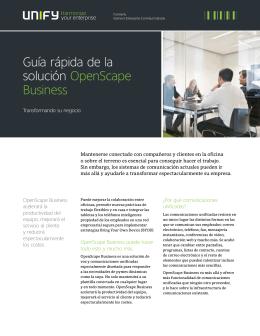 Guía rápida de la solución OpenScape Business