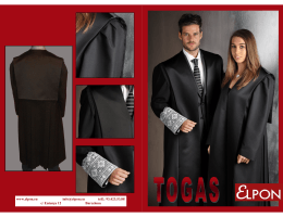Folleto Togas Elpon