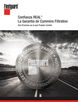Confianza REALTM La Garantía de Cummins Filtration