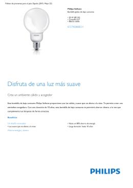 Product Leaflet: Bombilla globo de bajo consumo de 20 W (85 W