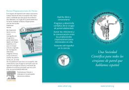 descargar folleto SoHAH en pdf - Sociedad Hispanoamericana de