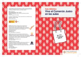 """guía didáctica """"Vive el Comercio Justo en las aulas"""""""