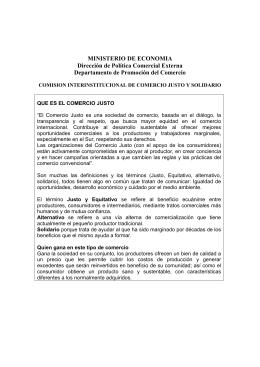 Comisión Interinstitucional de Comercio Justo y Solidario
