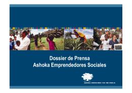 Dossier de Prensa Ashoka Emprendedores Sociales