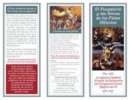 El Purgatorio y las Almas de los Fieles Difuntos