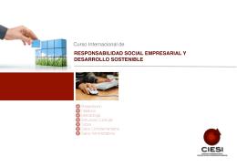 Curso Internacional de RESPONSABILIDAD SOCIAL