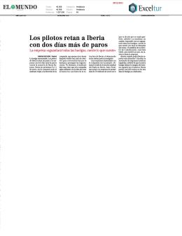 Los pilotos retan a Iberia con dos días más de paros