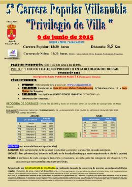 información y reglamento - Club Deportivo Sprint Sport