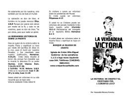 FOLLETO LA VERDADERA VICTORIA