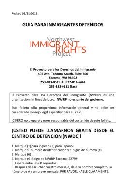 Guía para inmigrantes detenidos