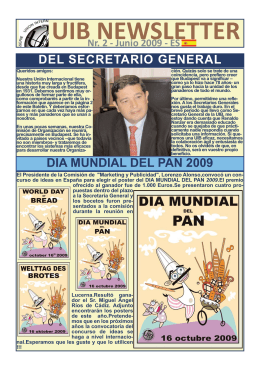 NEWSLETTER 2 ES_Maquetación 1 - International Union of Bakers