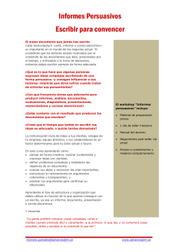Informes persuasivos - Advanced Performance Management