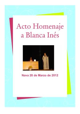 Acto Homenaje a Blanca Inés