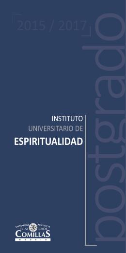 Folleto de espiritualidad