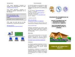 FORO DE INFORMACION Y DEBATE - BVSDE - Ops