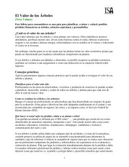 El Valor de los Árboles - Sociedad Internacional De Arboricultura