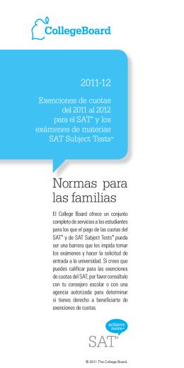 Normas para las familias