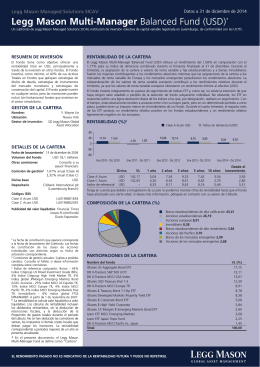 Legg Mason Multi-Manager Balanced Fund (USD)*